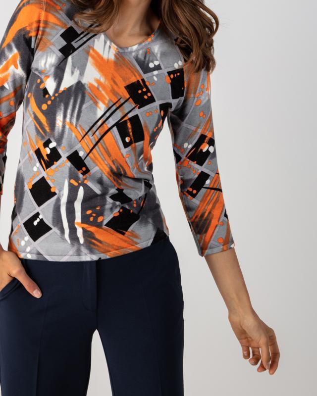 Пуловер, р. 50, цвет оранжевый