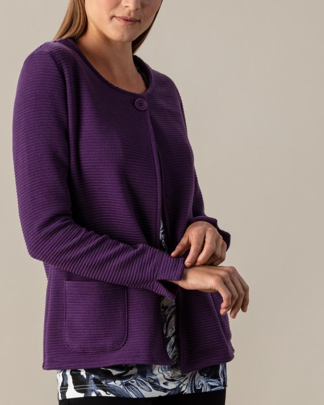 Жакет, р. 48, цвет темно-фиолетовый