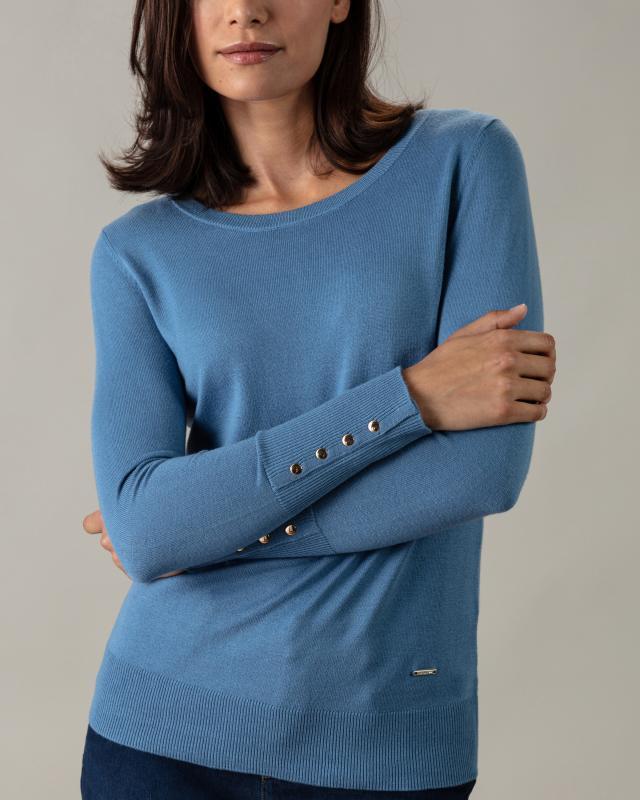 Пуловер, р. 54, цвет джинс