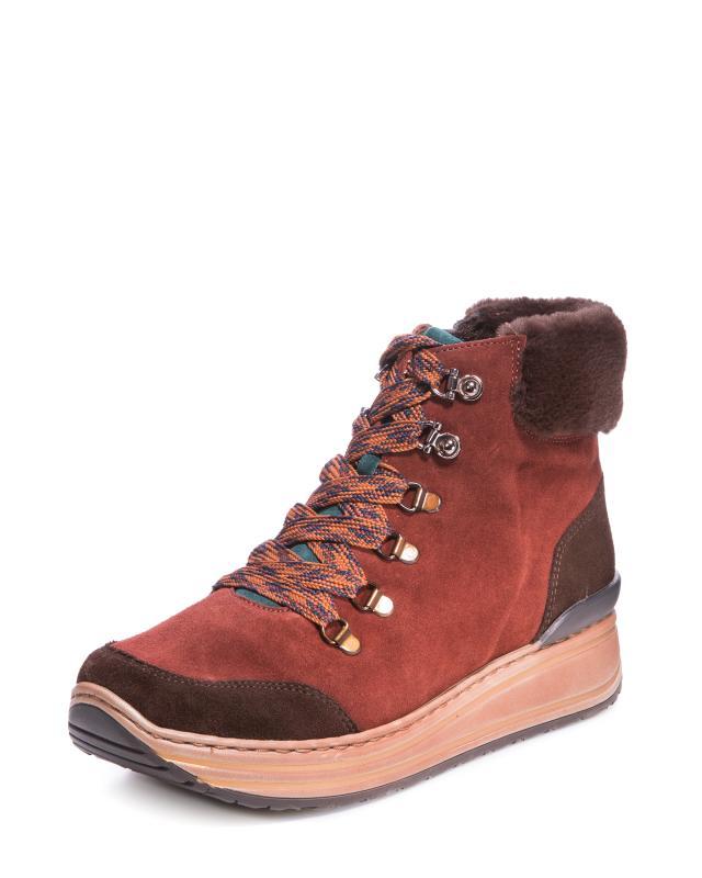 Ботинки, р. 37,5, цвет коричневый(замша)