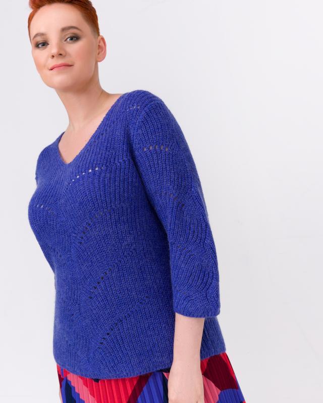 Пуловер, р. 52, цвет фиолетовый