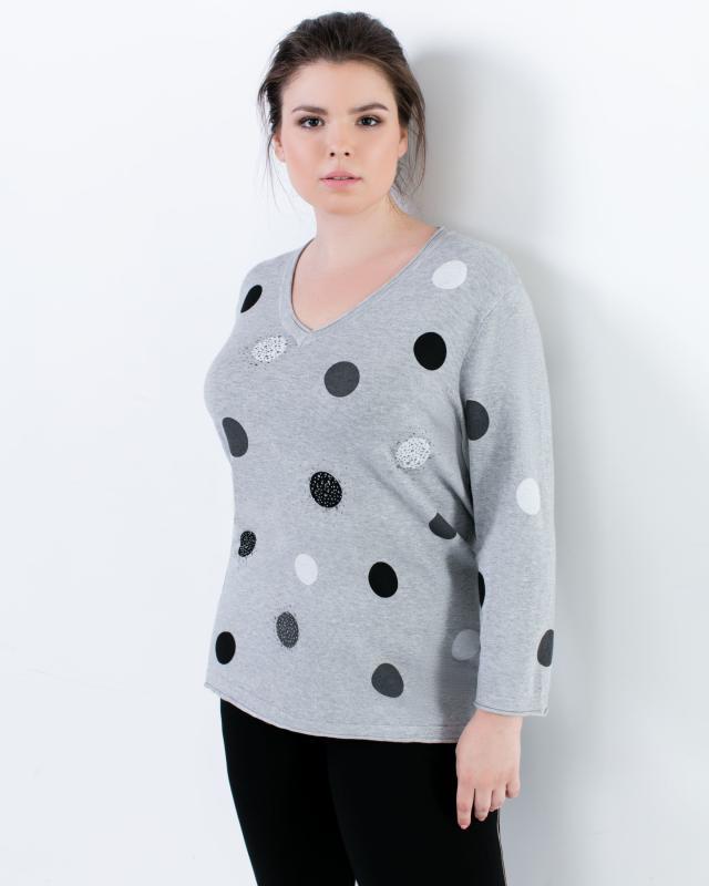 Пуловер, р. 62, цвет серый