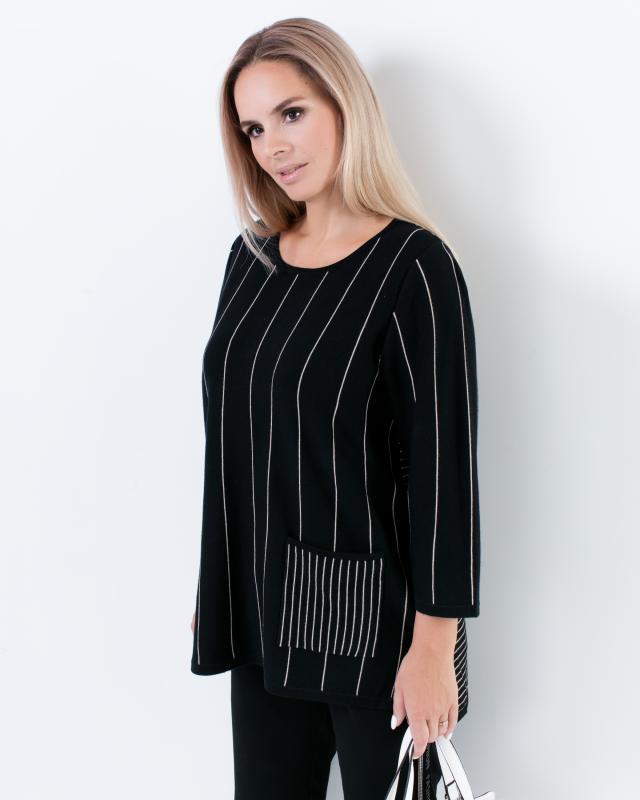 Пуловер, р. 56, цвет черный