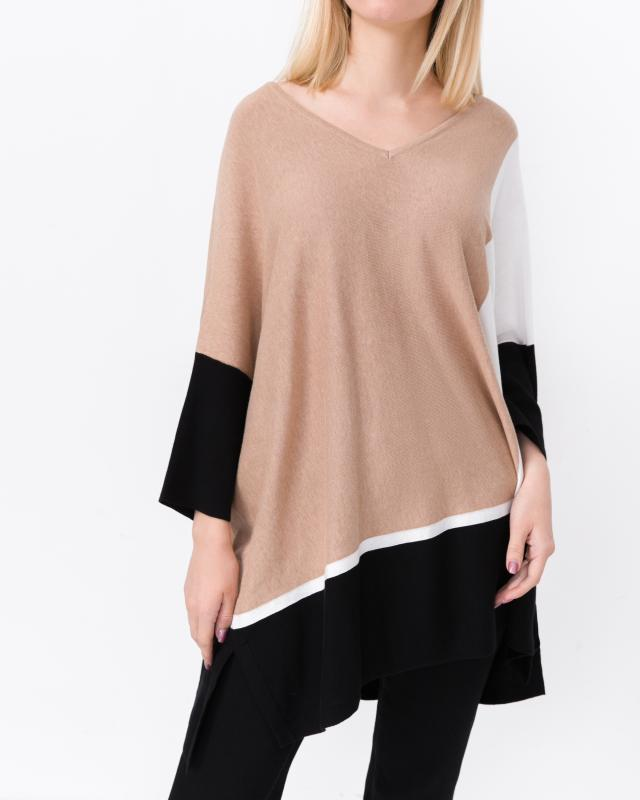 Пуловер, р. 58, цвет бежевый