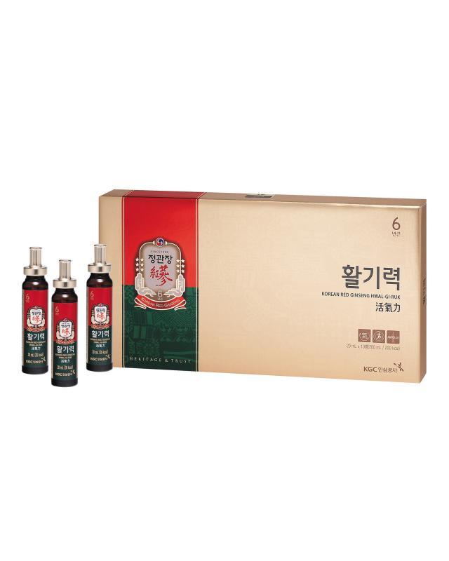 Тонизирующий напиток Vital Tonic из корня корейского красного женьшеня,10 шт. х 20 мл Cheong Kwan Jang фото