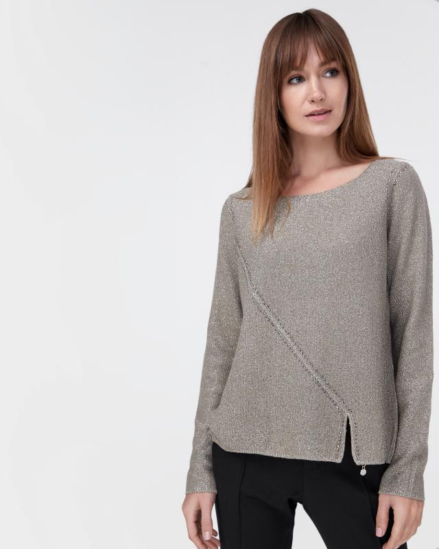 Пуловер, р. 42, цвет оливковый