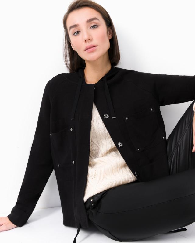 Куртка, р. 44, цвет черный/оливковый