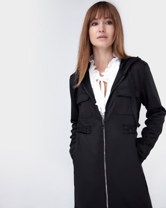 Пальто, р. 46, цвет черный