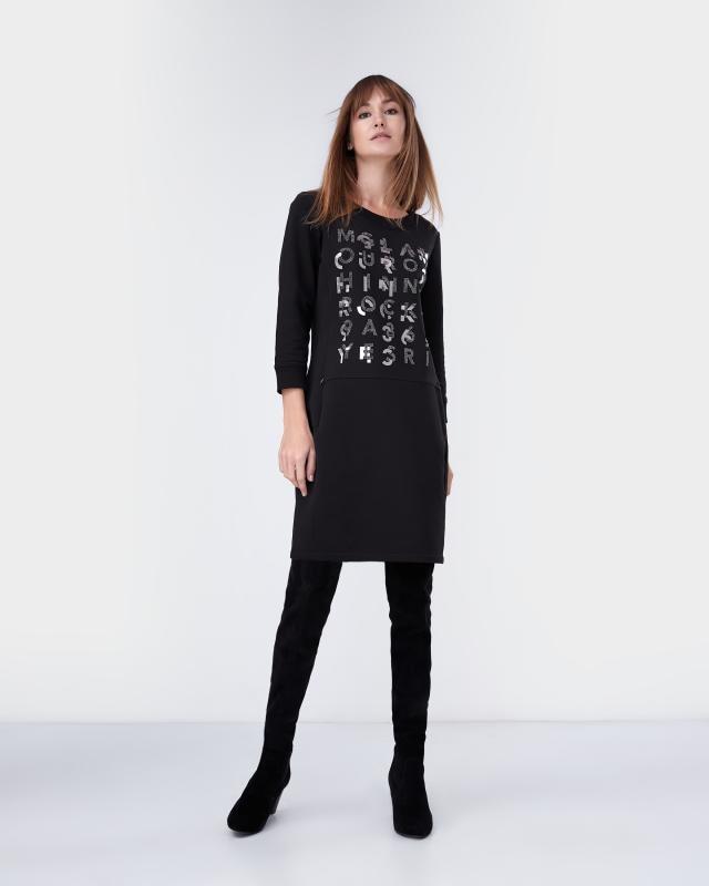 Платье, р. 52, цвет черный