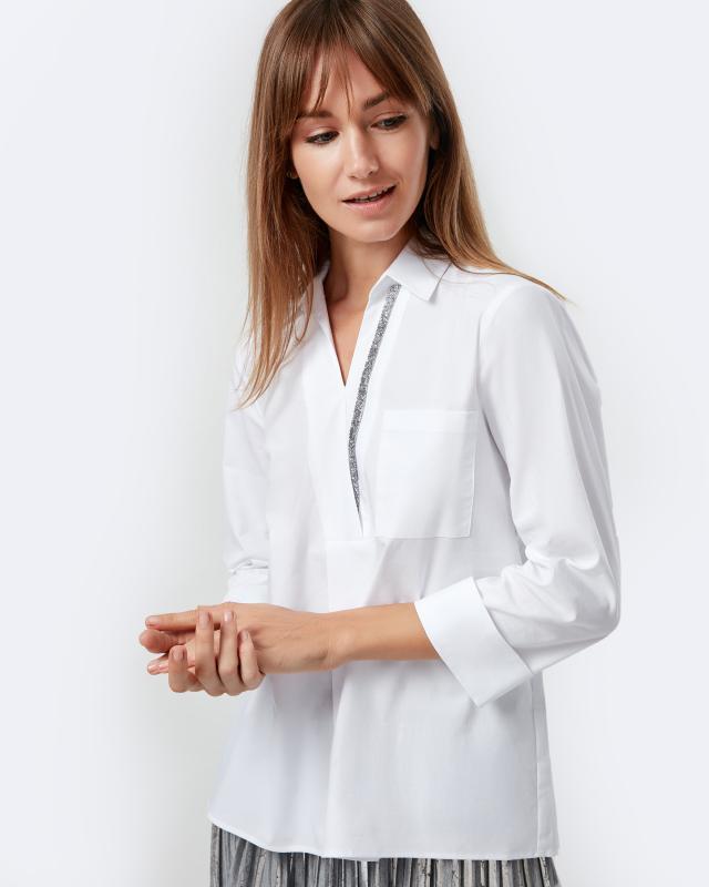 Блузка, р. 60, цвет белый