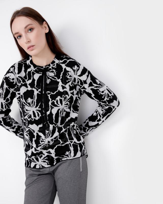 Пуловер, р. 50, цвет черный