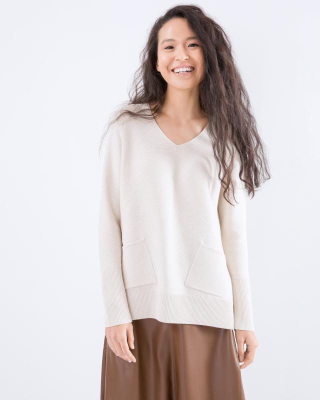 Пуловер, р. 42, цвет бежевый