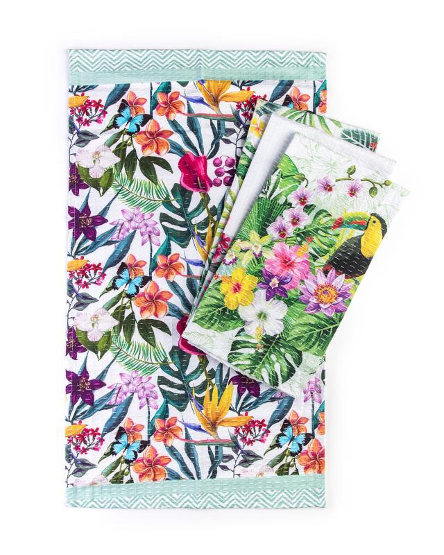 Кухонные полотенца «Тропические каникулы»,4 шт. Clever
