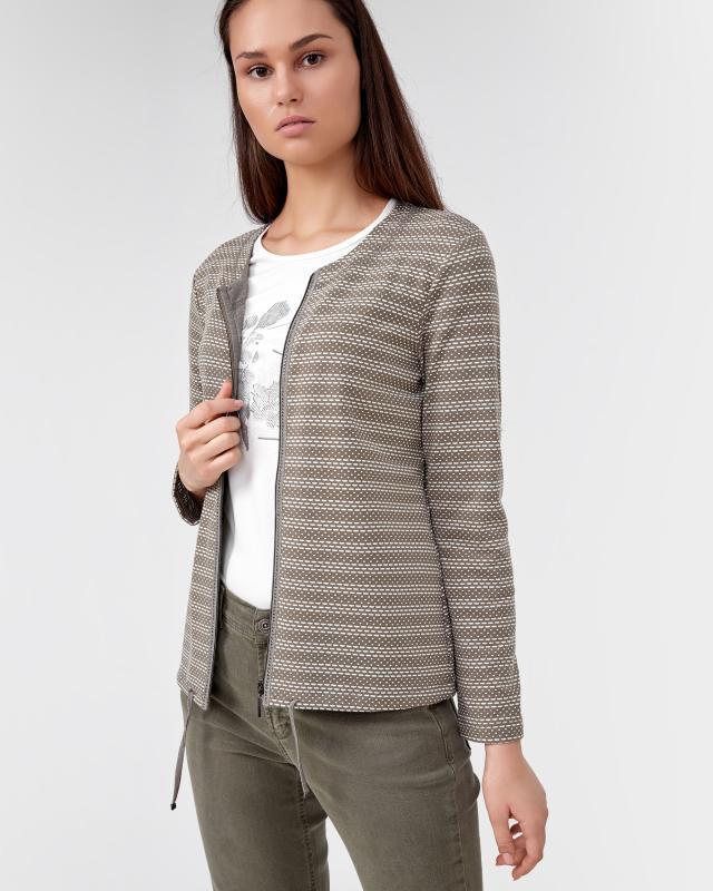 Сет: кардиган и блузка, р. 52, цвет оливковый