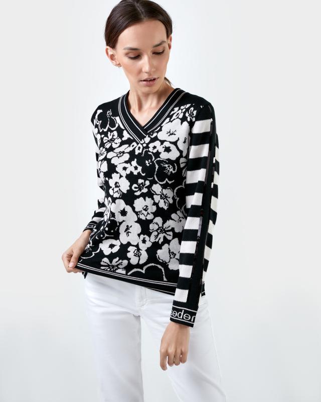 Пуловер, р. 46, цвет черный