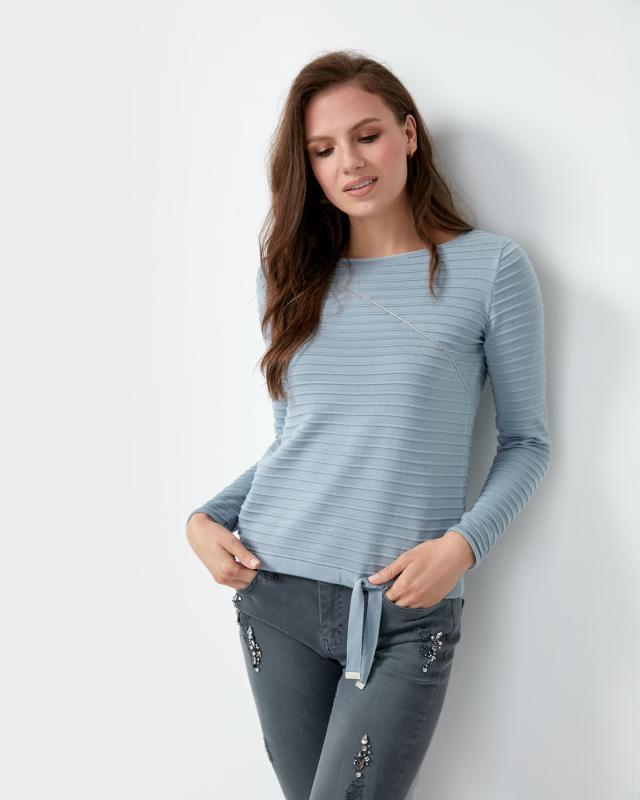 Пуловер, р. 54, цвет голубой