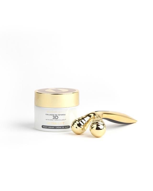Ночной крем-лифтинг для лица, 100 мл +роликовый массажер Elizabeth Grant Collagen Re-Inforce