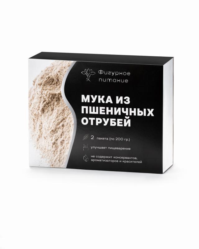 Мука из пшеничных отрубей, 2 шт. х 200 г Фигурное питание