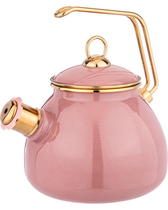 Чайник эмалированный со свистком,3 л AGNESS Deluxe agness чайник винтаж 2 2 л пионы
