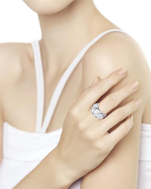 Кольцо серебряное фантазийное Diamant lav z серебряное кольцо ruby из коллекции antique