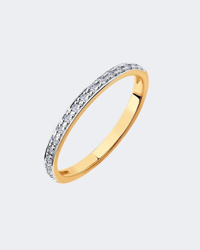 Фото - Кольцо с бриллиантовой дорожкой Diamant кольцо с дорожкой sokolov из чёрных бриллиантов