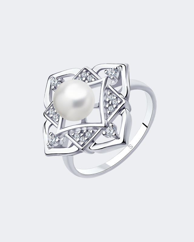 Фото - Кольцо из серебра с жемчужиной Diamant макс зейдевиц рут зейдевиц девушка с жемчужиной