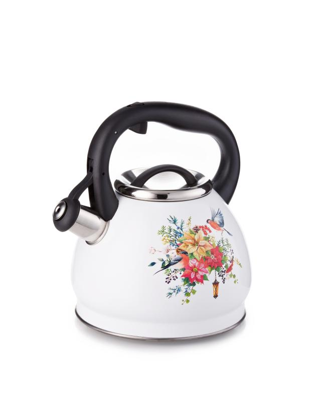 Чайник со свистком,3 л AGNESS Торжество agness чайник винтаж 2 2 л пионы