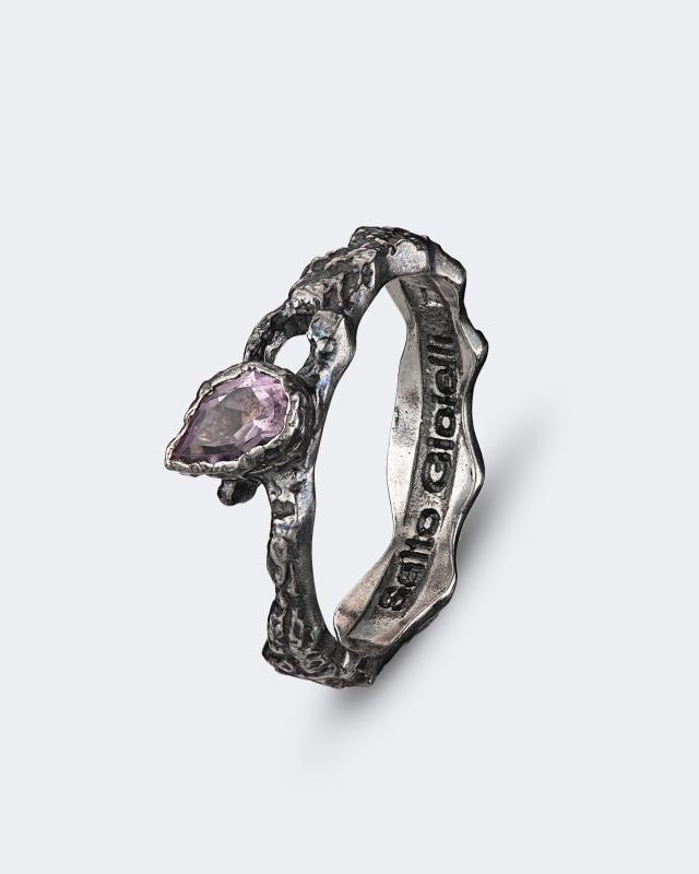 Серебряное кольцо с аметистом из коллекции «Антик» Salto Gioielli lav z серебряное кольцо ruby из коллекции antique