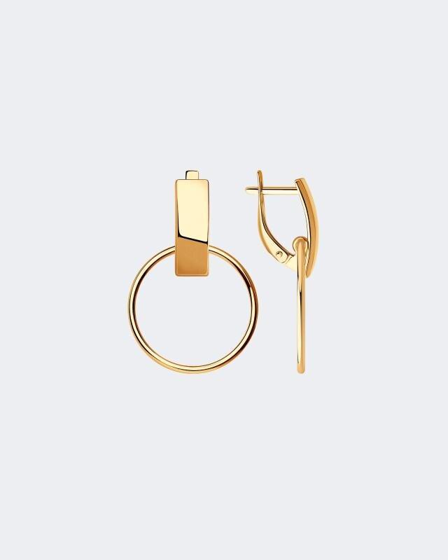 Серьги-кольца из серебра Sokolov