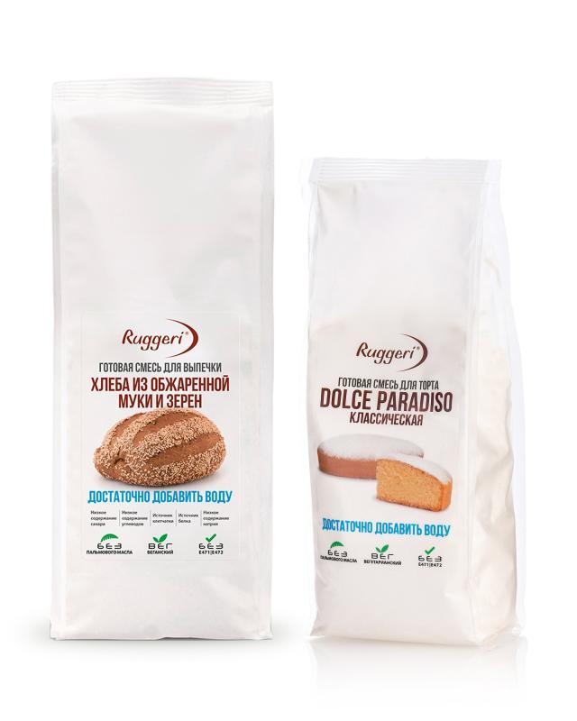 Набор: смесь для выпечки хлеба + смесь для выпечки торта Ruggeri