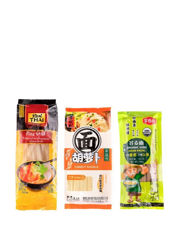 Набор: 3 вида лапши (рисовая, морковная, гречневая) REAL THAI