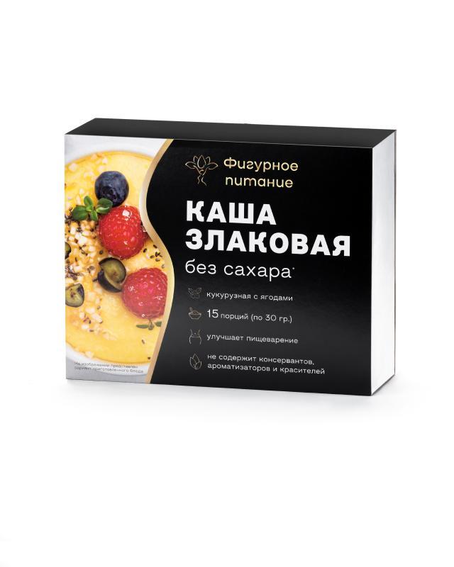 Каша злаковая без сахара «Кукурузная с ягодами», 15 шт. х 30 г Фигурное питание